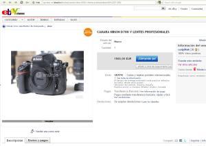 Falsa pagina de ebay.es